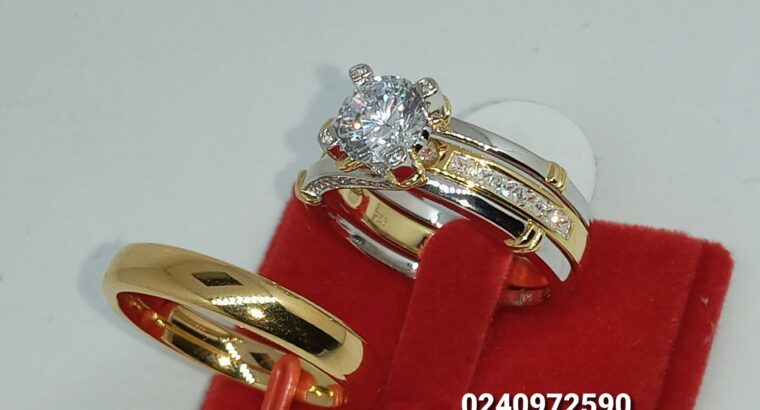 Solid sterling silver engagement/wedding rings se