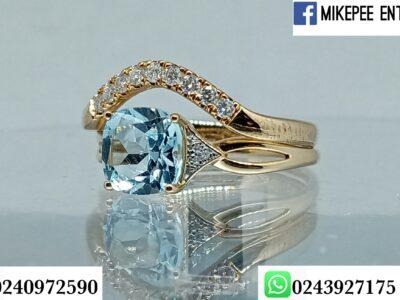 Solid 14k gold bridal diamonds rings set
