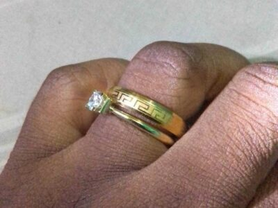 Pure Gold dust Ring